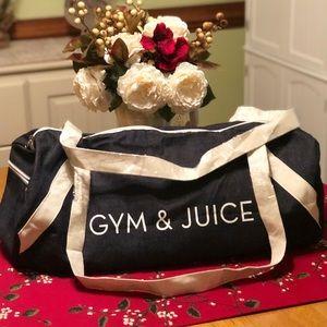 "PRIVATE PARTY ""GYM & JUICE"" DENIUM BAG"